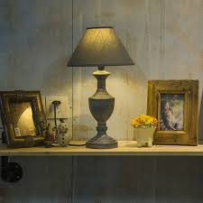 classic vintage table lamp iron lamp fabric shade