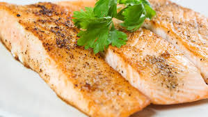 cooked salmon fillet. Plain Salmon On Cooked Salmon Fillet