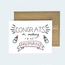Congratulations Card Baby Funny Baby Greeting Card New Etsy