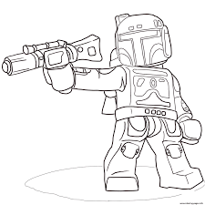 Small Picture Lego Star Wars Boba Fett Coloring Pages Printable