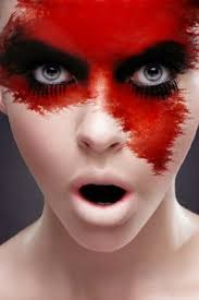 blood red facepaint beauty and make up pictures