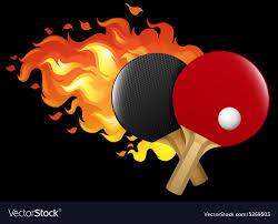 Design Table Tennis Flaming Table Tennis Set