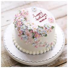 Simple Flower Birthday Cake Delicious Cake Recipe