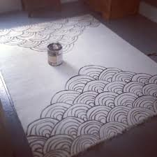 diy painted rug sera s room continued