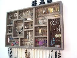 jewelry organizer wall wall hung jewelry organizer clever wall hanging jewelry organizer organizers interdesign classico hanging jewelry organizer wall