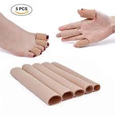 5PCS Toe Tubes Fabric Sleeve Protectors with Gel ... - Amazon.com