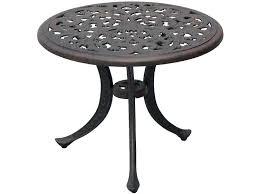 darlee outdoor furniture outdoor living series cast aluminum antique bronze round end table dl a darlee patio furniture santa anita darlee patio furniture