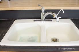 cast iron porcelain sink. How To Clean White Porcelain Enameled Cast Iron Farmhouse Kitchen Sink Without Chemicals Intended