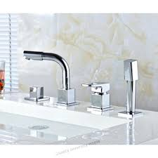 deck mount bath tub faucets square deck mounted roman bathroom bath tub faucet w handheld shower deck mount bath tub faucets