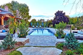 Incredible Pool Landscaping Ideas Swimming Design  And Hardscape Garden Decors