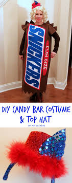 DIY Candy Bar Halloween Costume and Top Hat OHMY CREATIVE