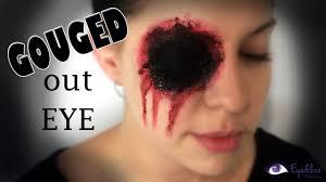 missing eye gouged eye makeup tutorial by eolizemakeup you