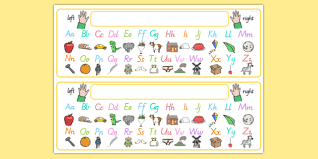 Queensland Cursive Alphabet Chart Free Alphabet Desk Strip With Pictures A Z Visual Aid