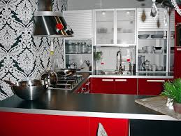 Red And White Kitchen Decor Vintage Retro Decoration Country Small