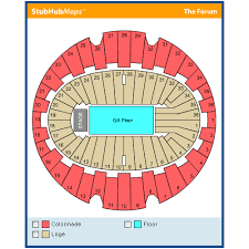 La Forum Concert Seating Chart La Forum Events And Concerts In Inglewood La Forum Eventful