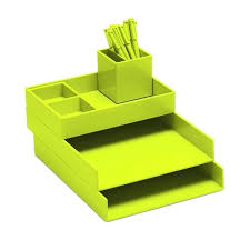 lime green office accessories. desk lime green 13 ways to use greenery decorate your home office poppin accessories