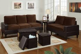 Microfiber Living Room Chairs Bob Kona 5 Piece Livingroom Set In Chocolate Microfiber And