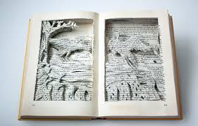 art book books ilration literature pages paper sculpter story