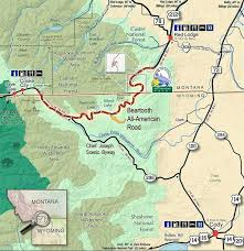 ideas about Highway Map on Pinterest   Highway Road  Pacific     Called the most beautiful drive in North America  the Beartooth Highway stretches    miles from