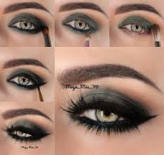 dark green eye makeup