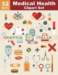 Medical Clipart - Doctor Nurse Health Clip Art - 32 Item Digital Download  Graphic Design Elements - Collage Scrapbooking DIY Flyers from  graficaitalia on ...