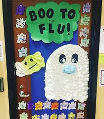 classroom door decorations halloween. Modren Halloween Adorable DIY Ghost Door Decoration To Classroom Decorations Halloween E