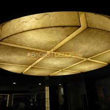 round backlit onyx ceiling decor