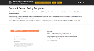 policy templates 2019 return refund policy templates
