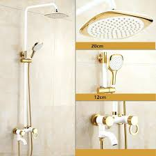 wall mount bathtub faucet tiled showers golden white paint shower bathroom 3 handle oil rubbed bronze