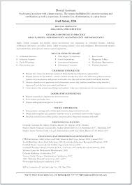 Dental Resume Extraordinary Dental Assistant Resume Objectives Objective For Resumes Skills This