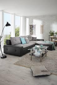 Wohnlandschaft In Grau Mit Bettfunktion Mömax Wohnzimmer