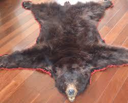 bear skin rug faux