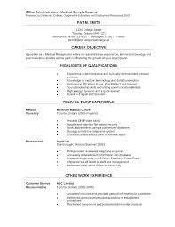 Sample Resume Admin Office Administrative Resume Skinalluremedspa Com