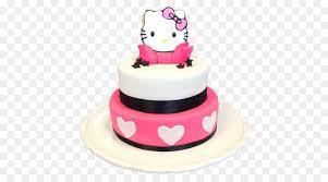 Birthday Cake Hello Kitty Cupcake Bakery Torte 1st Birthday Png