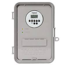 intermatic 40 amp auto volt digital timer switch gray