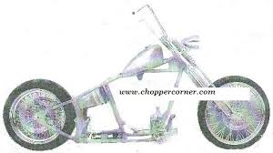 bobber rolling chassis 200 wide tire softail frame bike kits