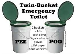 make a diy twin bucket emergency toilet