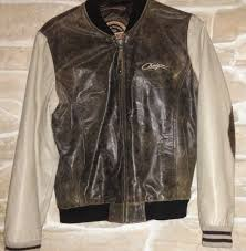 chevignon two tone french cafe racer buffalo leather motorcycles jacket with patches
