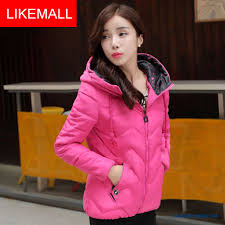 new winter brand fashion women hooded coat short blue young down jacket