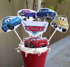 Cars Party Decorations 1 Cars Centerpiece Disney Inspired Cars Party Decorations