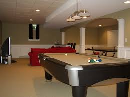 Decorations:Inspirational Basement Idea With Bar And Pool Table Design  Sporty Design For Basement Idea