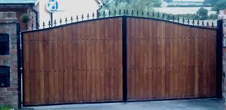 metalgates with wood wooden gates iron n18