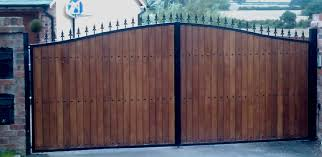 metal gates with wood wooden gates