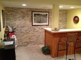 basement bar stone. Natural Stone Wall Behind Basement Bar. Bar