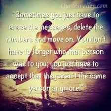 erase the messages and the past