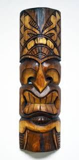 wooden tiki wall art