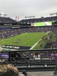M T Bank Stadium Level 2 Club Level Home Of Baltimore Ravens