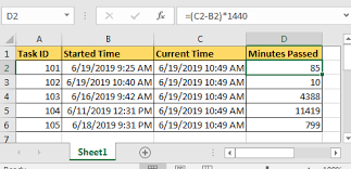 Hour Sheet Calculator Calculate Minutes Between Date Time In Microsoft Excel