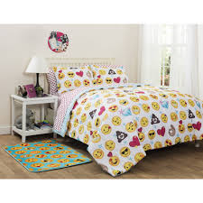 Bed sheets for twin beds Boys Walmart Emoji Pals Bedinabag Bedding Set Walmartcom