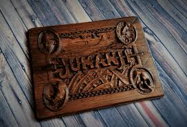 Jumanji Wooden Board Game Jumanji Wood Carving Wall Plaque DNA Dimension Designs Web Shop 87